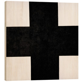 Wood print  Black Cross - Kasimir Sewerinowitsch  Malewitsch