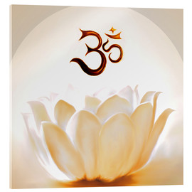 Acrylic print  Lotus with Om - Christine Ganz