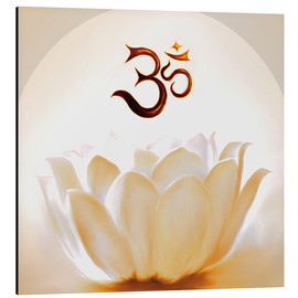 Aluminium print  Lotus with Om - Christine Ganz