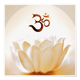 Premium poster  Lotus with Om - Christine Ganz