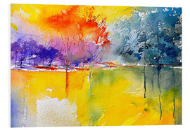 Foam board print  Abstract landscape - Pol Ledent