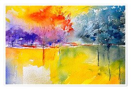 Premium poster  Abstract landscape - Pol Ledent