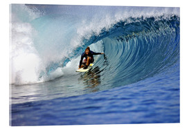 Acrylic print  Surfing blue paradise island wave - Paul Kennedy