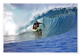 Premium poster  Surfing blue paradise island wave - Paul Kennedy