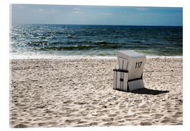 Acrylic print  Beach chair 117 - Hannes Cmarits