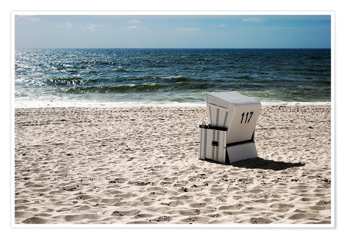 Premium poster Beach chair 117