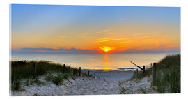 Acrylic print  Sunset Panoramic at the beach - FineArt Panorama