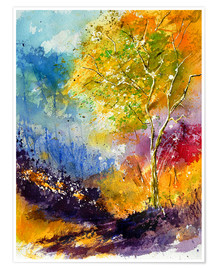 Premium poster Autumn tree