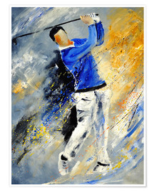 Premium poster  Golf Player - Pol Ledent