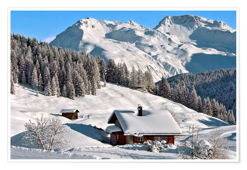 Premium poster Winter landscape, Switzerland