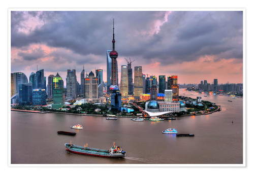Premium poster View of Pudong - Shanghai