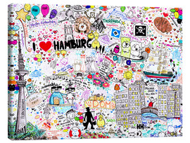 Canvas  Hamburg - SaRidie-arts