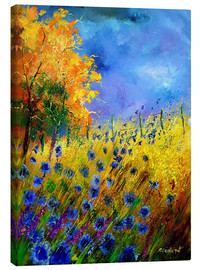Canvas print  Cornflowers field - Pol Ledent