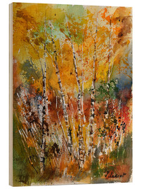 Wood print  little forest of birch trees - Pol Ledent