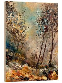 Wood print  Autumn forest - Pol Ledent