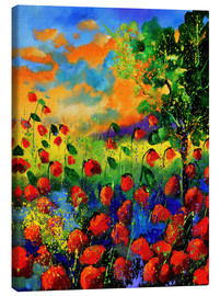 Canvas print  Field of poppies - Pol Ledent