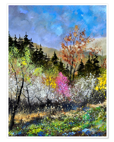 Premium poster Spring forest