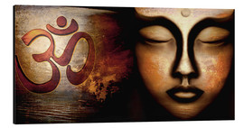 Aluminium print  Siddhartha with Om - Christine Ganz
