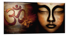 Foam board print  Siddhartha with Om - Christine Ganz