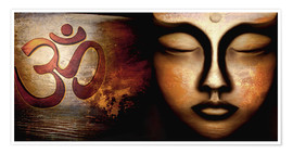 Premium poster  Siddhartha with Om - Christine Ganz