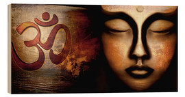 Wood print  Siddhartha with Om - Christine Ganz