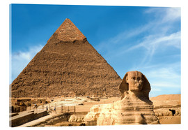 Acrylic print  Sphinx in front of the Great Pyramid - Miva Stock