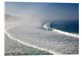 Acrylic glass  Waves at the coast in the morning mist - Walter Bibikow