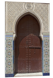 Foam board print  Wooden door in decorated archway - Nico Tondini
