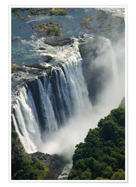 Premium poster  Zambezi River and Victoria Falls - Paul Souders