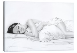 Canvas print  sleeping #1 - Daniel Kiessler