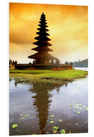 Forex  Temple in Bali with reflection in the water, Indonesia - Bill Bachmann