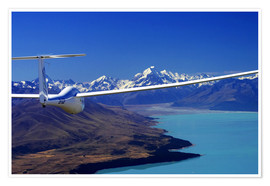 Premium poster  Glider over a lake - David Wall