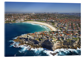 Acrylic print  Aerial view of Bondi Beach - David Wall