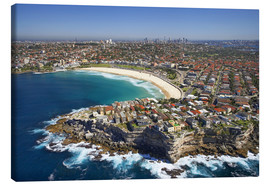 Canvas print  Aerial view of Bondi Beach - David Wall