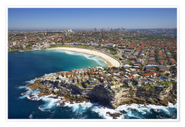Premium poster Aerial view of Bondi Beach