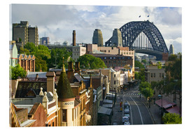 Acrylic print  View over Sydney building - Walter Bibikow