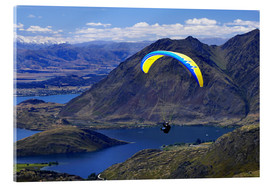 Acrylic glass  Paraglider above a mountainscape - David Wall