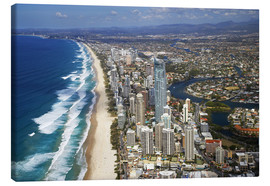 Canvas print  Surfer's Paradise from the air - David Wall
