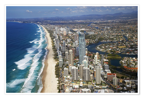 Premium poster Surfer's Paradise from the air