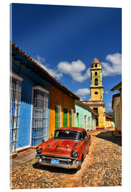 Acrylic print  Old Chevy in Trinidad - Bill Bachmann