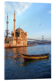 Acrylic print  Rowboat and Ortakoy Mosque - Ali Kabas