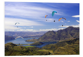 Foam board print  Paragliders over Lake Wanaka - David Wall