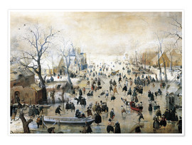Poster  Winter Landscape - Hendrick Avercamp