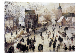 Acrylic print  Ice skating - Hendrick Avercamp