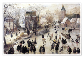 Poster  Ice skating - Hendrick Avercamp