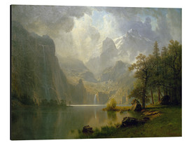 Aluminium print  In the Mountains - Albert Bierstadt