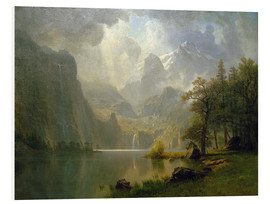 Foam board print  In the Mountains - Albert Bierstadt