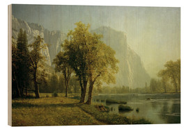 Wood print  El Capitan, Yosemite Valley - Albert Bierstadt
