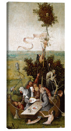 Canvas print  The ship of fools - Hieronymus Bosch
