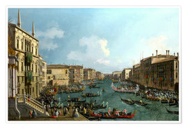 Premium poster Regatta on the Canale Grande